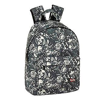 Blackfit8 - Officiell barnryggsäck, färg: grå, 310 x 160 x 410 mm