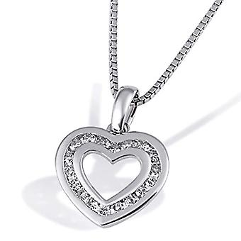 Goldmaid - Heart-shaped necklace in white gold 375