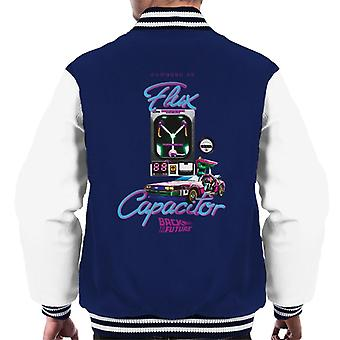 Back to the Future Flux Capacitor 3D Men's Varsity Jacket