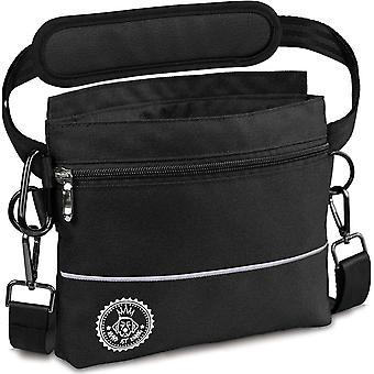 Hunde Leckerlie Tasche mit Einhand-Magnet-Verschluss, 2 Zip-Fächer, herausnehmbare Innentasche,