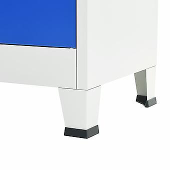 vidaXL Büroschrank Metall 90 x 40 x 180 cm Grau und Blau