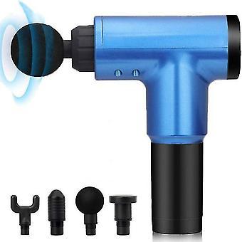 Us plug blue electric fascia gun muscle relaxer neck massager home fitness impact massage gun az7421