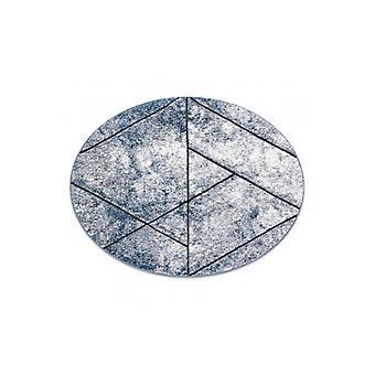 السجاد الحديث COZY 8872 دائرة الجدار، والهندسة، مثلثات - الهيكلية مستويين من الصوف، الأزرق