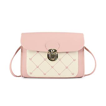 Crossbody Bag With Lockable Flap, Heart Embroidery