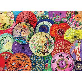 Eurographics Asian Oil-Paper Umbrellas Jigsaw Puzzle (1000 Pieces)