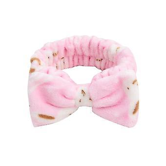 Coral Fleece Wash Face Bow Haarbänder