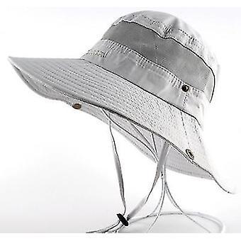 Men Sun Hat, Women Summer Cap, Wide Brim Uv Protection Flap Hats(Light Gray)