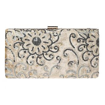 Sequin Embroidery Evening Wedding Clutch Bag