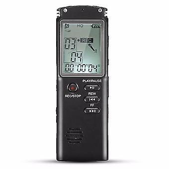 8 GB bærbar genopladelig LCD Digital Audio Voice Recorder Dictaphone med MP3 Play