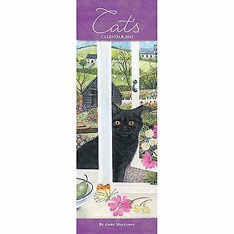 Otter House Cats av Anne Mortimer Slim Kalender 2022