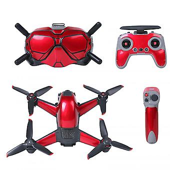 Remote Control Pvc Sticker Protective Cover Patch Skin Set For Dji Fpv Drone New