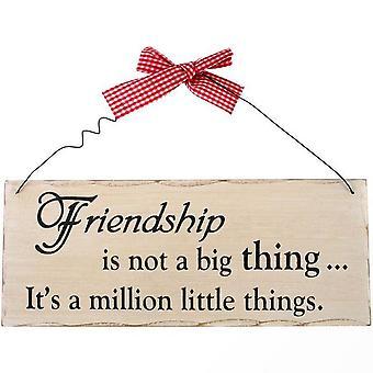 Jotain erilaista ystävyys ei ole iso juttu roikkuu merkki