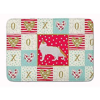 Bath mats rugs carolines treasures ck5554rug arabian mau cat love machine washable memory foam