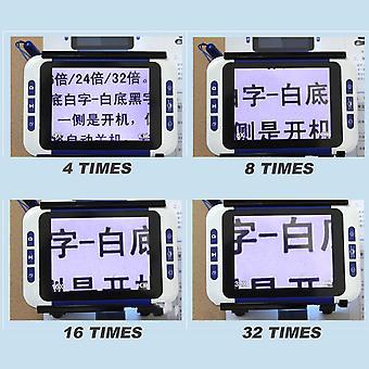 Low Vision 32x 3.5 pouces Pocket Portable Digital Video Magnifier Aide à la lecture