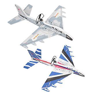 Random Color Luminous Charging Airplane Model Toy