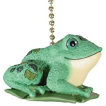 Green Frog Toad Froggie Froggy Decor Ceiling Fan Light Pull