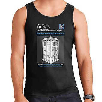 Doctor Who Tardis Service en reparatie handleiding mannen Vest
