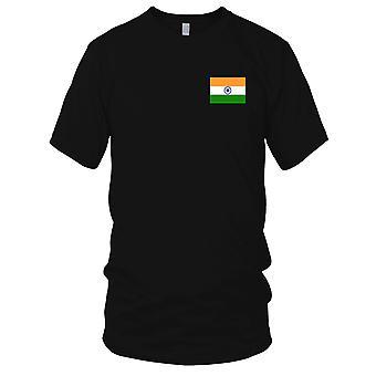 Drapeau National du pays de l'Inde - Logo - brodé 100 % coton T-Shirt Kids T Shirt