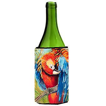 Red Parrot Wine Bottle Beverage Insulator Hugger