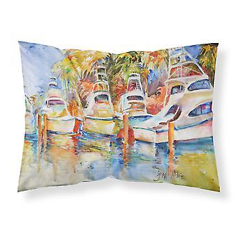 Deep Sea Fishing Boats at the Dock Fabric Standard Pillowcase