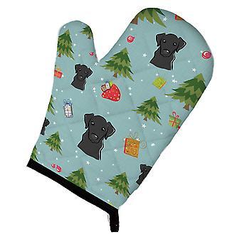 Carolines Treasures  BB5024OVMT Christmas Black Labrador Oven Mitt