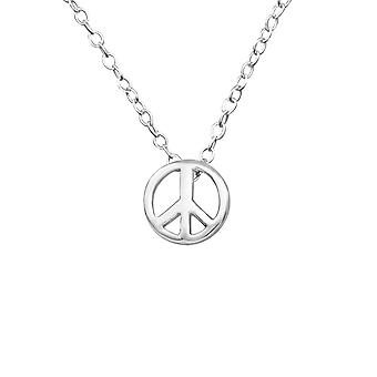 Peace - 925 Sterling Silver Plain Necklaces - W21826X