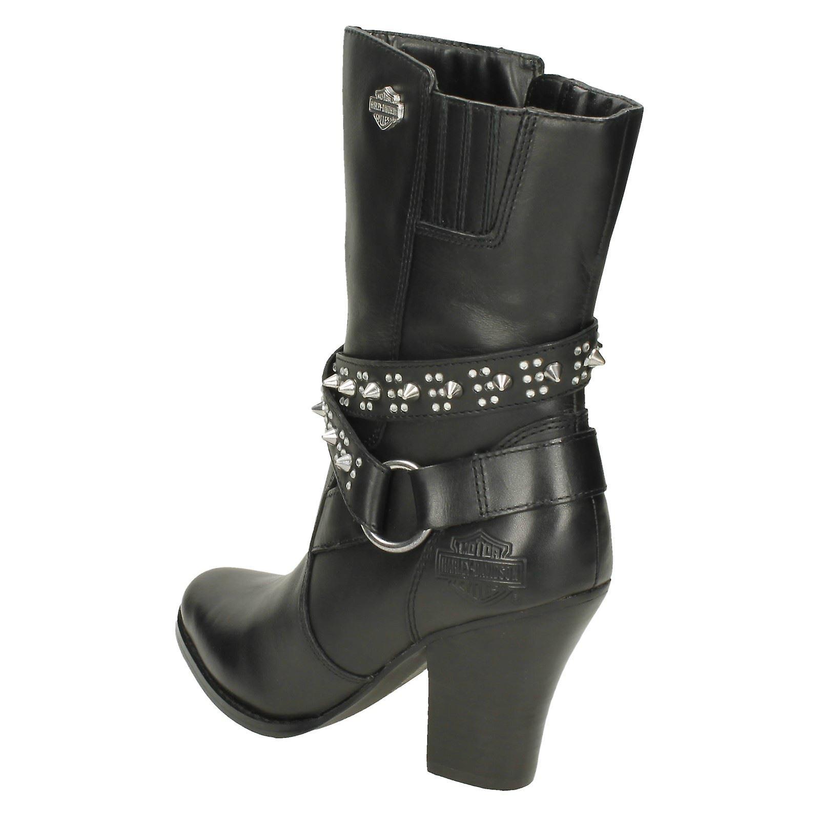 Damer Harley Davidson hæle læder støvler Rosana D83674