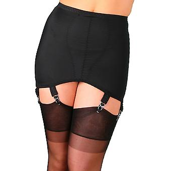 Nylon Dreams NDG6 Women's Black Solid Colour Light Control Slimming Shaping Girdle