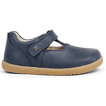 Bobux I-walk Girls Louise T-bar Shoes Navy