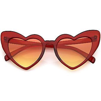 Extrema Semi Rimless Cat Eye solglasögon neutralt färgade