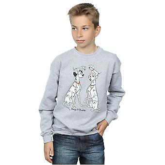 Disney drenge 101 dalmatinere klassiske Pongo og Perdita Sweatshirt