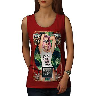 It's Like Jungle Fashion Women RedTank Top | Wellcoda