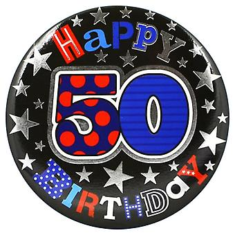 Simon Elvin 50th Birthday Giant Badge
