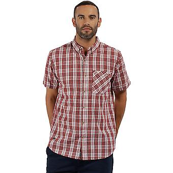 Regatta Mens Eathan Coolweave katoen Casual Shirt korte mouwen
