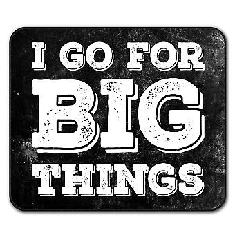Go Big Motivation  Non-Slip Mouse Mat Pad 24cm x 20cm | Wellcoda