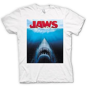 T-shirt das mulheres - tubarão tubarão branco - filme