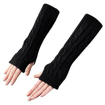 TRIXES Arm Warmers modische Winter Strick Fingerlose lange Handschuhe