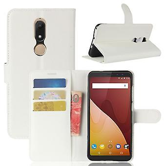 Tasche Wallet Premium Weiß für Wiko View Prime Schutz Hülle Case Cover Etui Neu