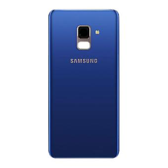 Cubierta de batería Samsung GH82 - 15551D galaxia A8 A530F 2018 + cinta adhesiva Blau