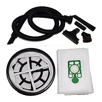 2.5 Metre Vacuum Hose 10 x Dust Bags + Filter + Tools Set Fits DAVID