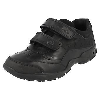 Boys Clarks School Shoes With Lights Nano Flash
