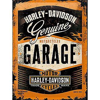 Harley Davidson autotalli suuria kohokuvioitu teräs allekirjoittaa 400 X 300 Mm