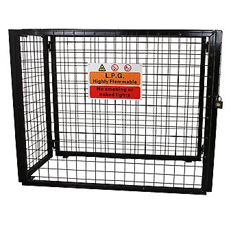 Gas Bottle Collapsible Cylinder Bottle Storage Security Galvanised Steel Mesh Cage 900mm