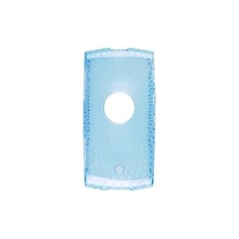 Diamantes loco Dura-Gel Gel de TPU para Sony Ericsson Vivaz - color turquesa