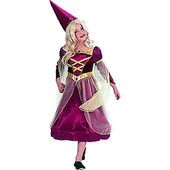 Edles Burgfräulein Kinder Kostüm Mädchen Hofdame