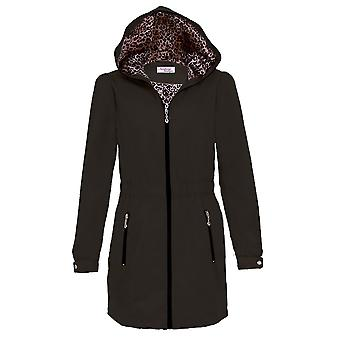 Ladies David Barry Hooded Shower Proof Leopard Women's Lightweight Raincoat