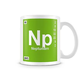 Wissenschaftliche bedruckte Becher mit Element Symbol 093 Np - Neptunium