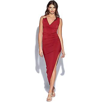 فستان ماكسي التفصيل الكتف هوب