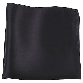 Knightsbridge Neckwear Fine Silk Pocket Square - Black