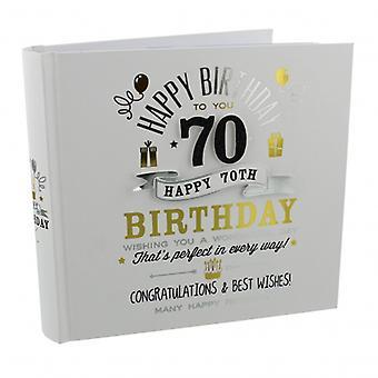 Signography 70th narodeninový darček fotoalbum